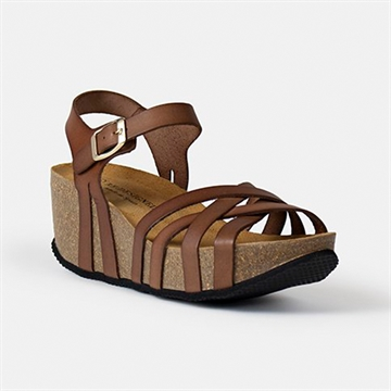 Mable Sandal Fra RE:DESIGNED - Cognac