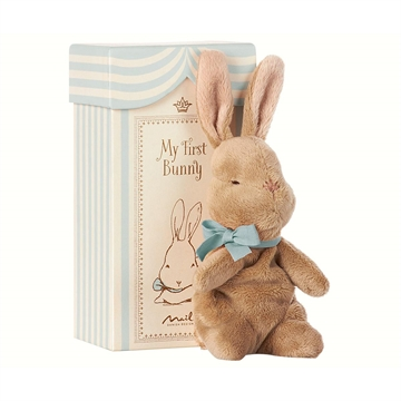 Maileg - My First Bunny In A Box - Blue