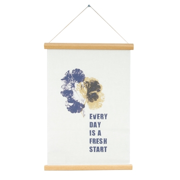 "Lærred plakat ""Every Day Is A Fresh Start"" fra Present Time"